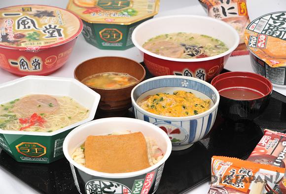 麺類、ご飯もの、味噌汁など勢揃い