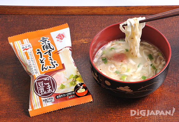 永谷園の京風すうぷうどん ごま豆乳