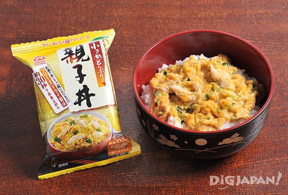 Instant Oyakodon rice bowl