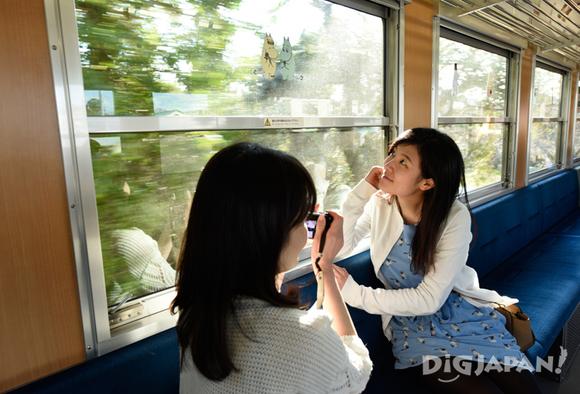 ムーミン列車の車窓からの景色