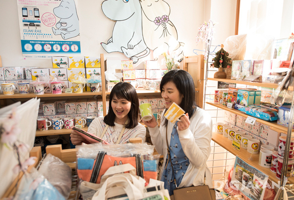 Inside the Moomin shop