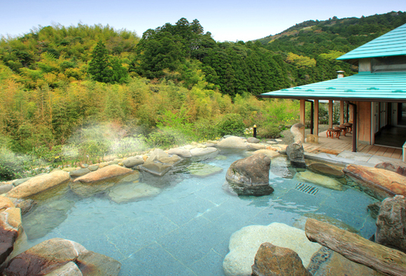 The open air hot springs at Goryaku No Yu