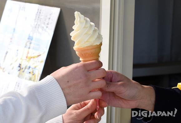 Milk-flavored soft serve ice cream