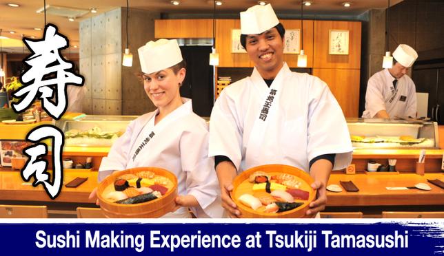 Sushi Making Experience at Tsukiji Tamasushi