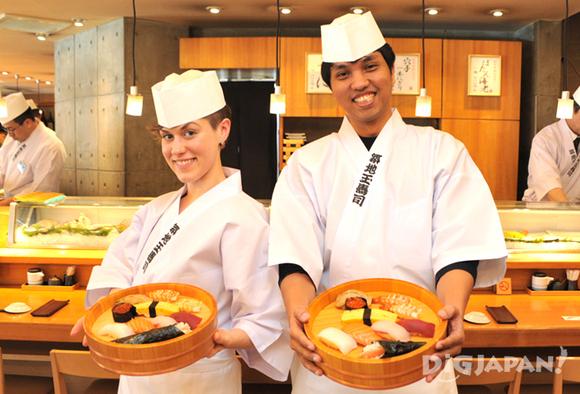 自分でにぎった寿司が完成