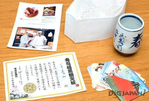 Sushi lesson souvenirs