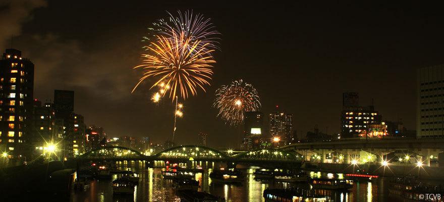 일본 여름 불꽃놀이 메인