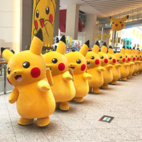 요코하마에 1000여 마리의 피카츄가 등장! '피카츄 대량 발생 중!'