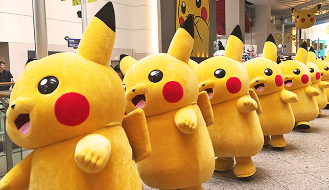 요코하마 이벤트 '피카츄 대량 발생 중!'