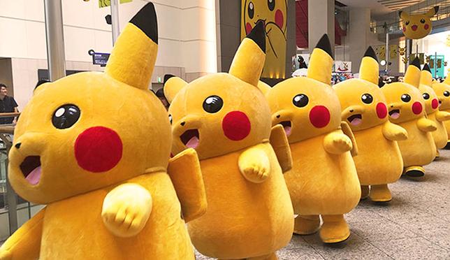 皮卡丘GO!GO!GO!千余只皮卡丘在横滨等你来抓!