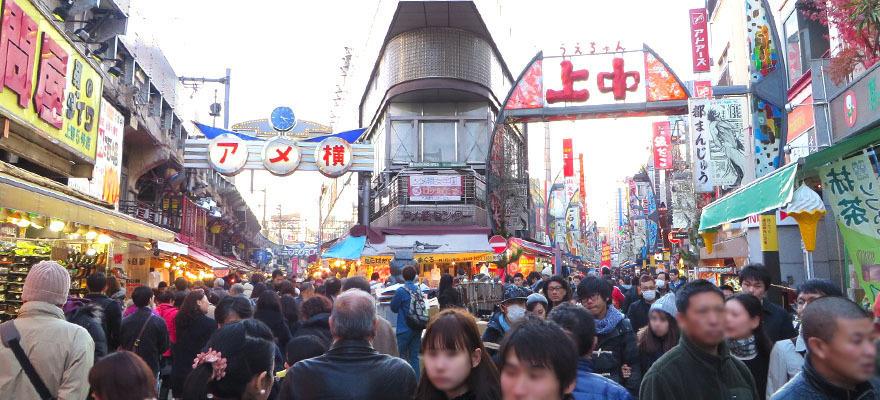 เดินเที่ยวตลาดอาเมะโยโก อุเอโนะ!