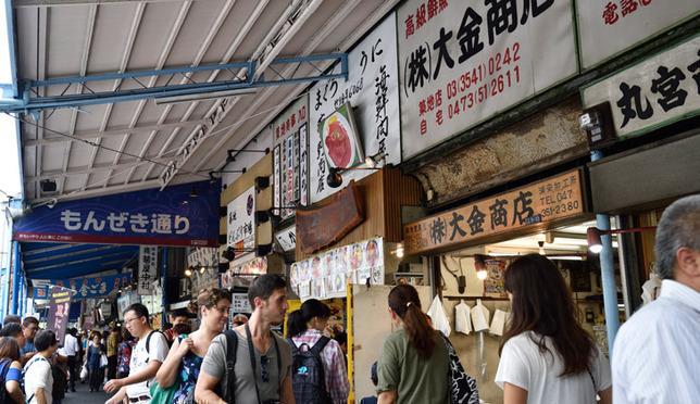 도쿄 자유여행 코스 추천 최대 수산물 시장 츠키지 시장 장외 시장 즐기기!