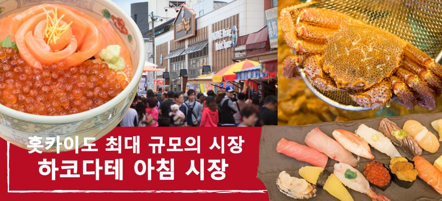 홋카이도 최대 규모의 시장 하코다테 아침 시장을 즐기는 해산물 삼매경