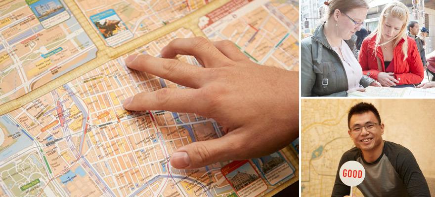 外国人旅行者に直撃インタビューvol.2  外国人目線の多言語地図の反応は!?