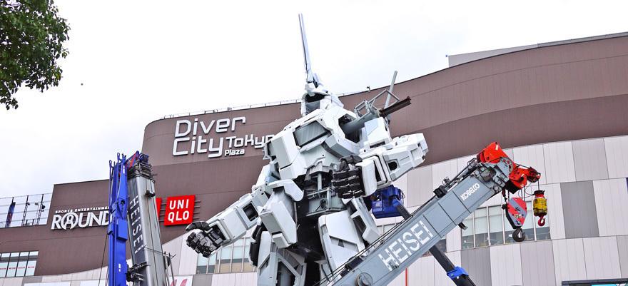 鋼彈回來了!機動戰士鋼彈施工過程超有看頭,東京台場最新焦點話題!