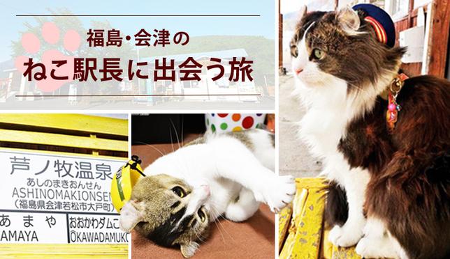 トロッコ列車で行く 福島・会津のねこ駅長に出会う旅