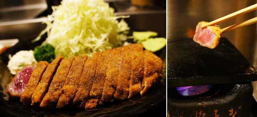 東京人氣排隊美食:牛かつもと村炸牛排定食,大口吃肉超滿足!