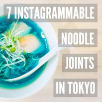 #Menstagram: 7 Instagrammable Noodle Joints in Tokyo
