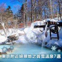 東京附近絕景地之賞雪溫泉7選
