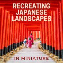 日本の名所をミニチュアで再現してみました【京都伏見稲荷大社・伊勢夫婦岩・富士山】