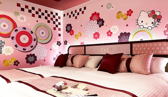 แฟนคิตตี้ห้ามพลาด! ห้องเฮลโล คิตตี้ สุดน่ารักที่โรงแรมอาซากุสะ โทบุ!
