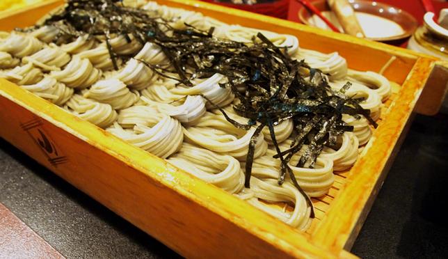 Hegi soba: a famous food from Niigata.