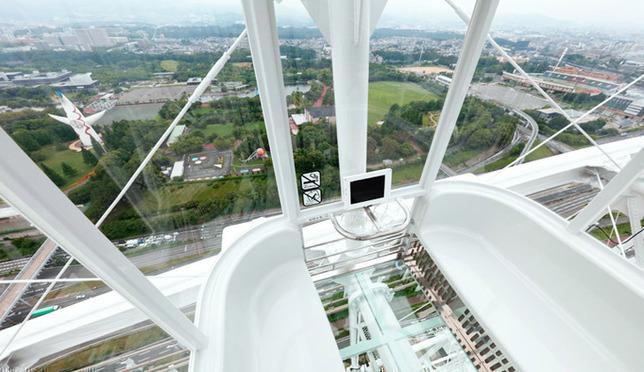 高さ日本一!大阪EXPOCITYの大観覧車レッドホース オオサカ ホイール