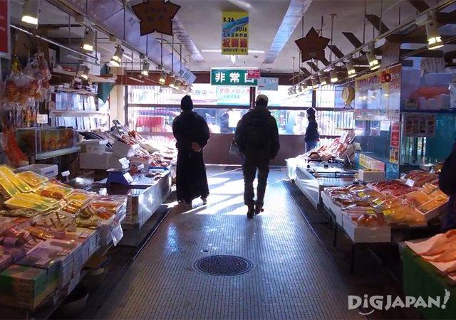 函馆早市场内风景