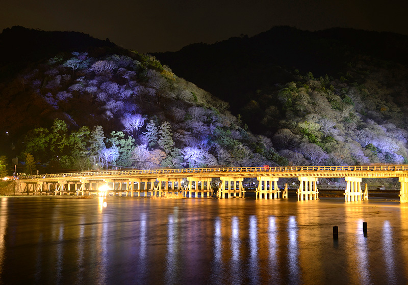 Illumination of the Togetsukyo Bridge