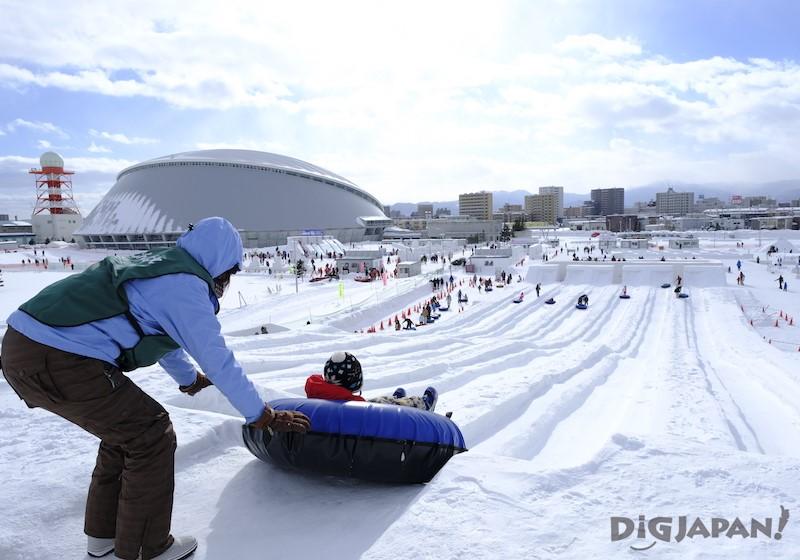 TSUDOME會場 雪圈滑梯