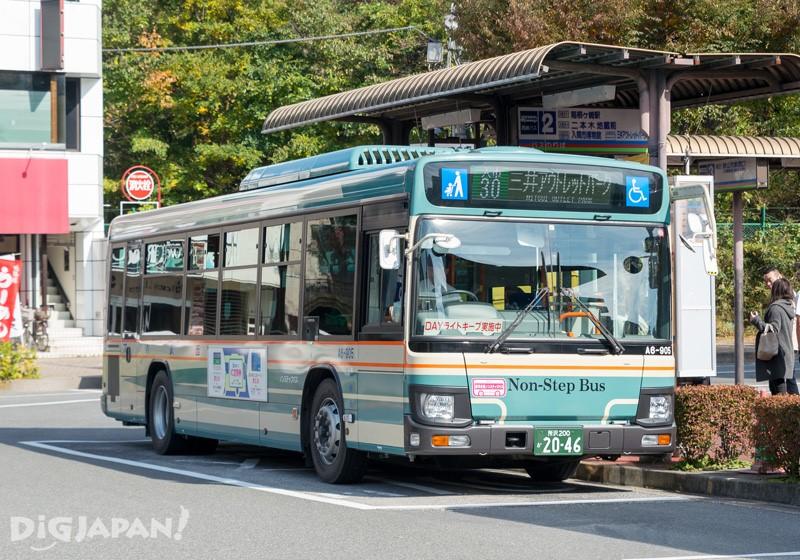往三井Outlet Park入間的巴士需在2號巴士站乘坐