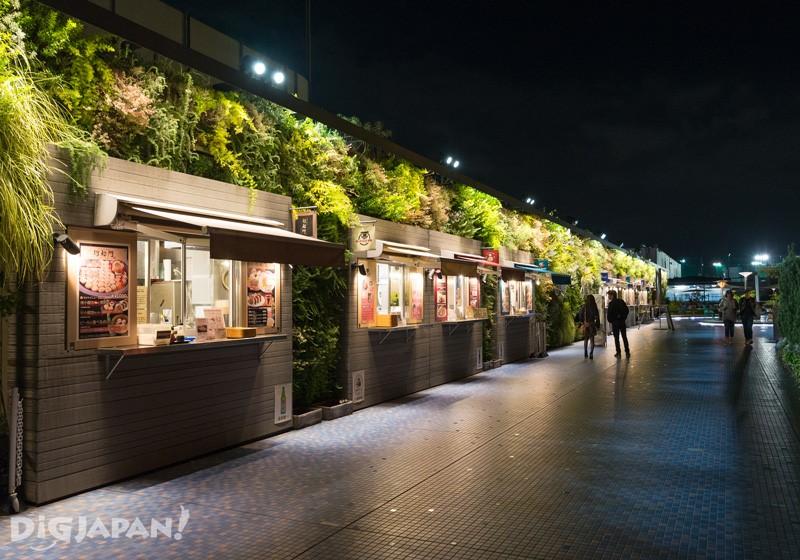 食和綠的空中庭園的餐車區域