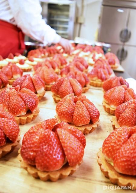 新鲜采摘的草莓做成的甜品和伴手礼4