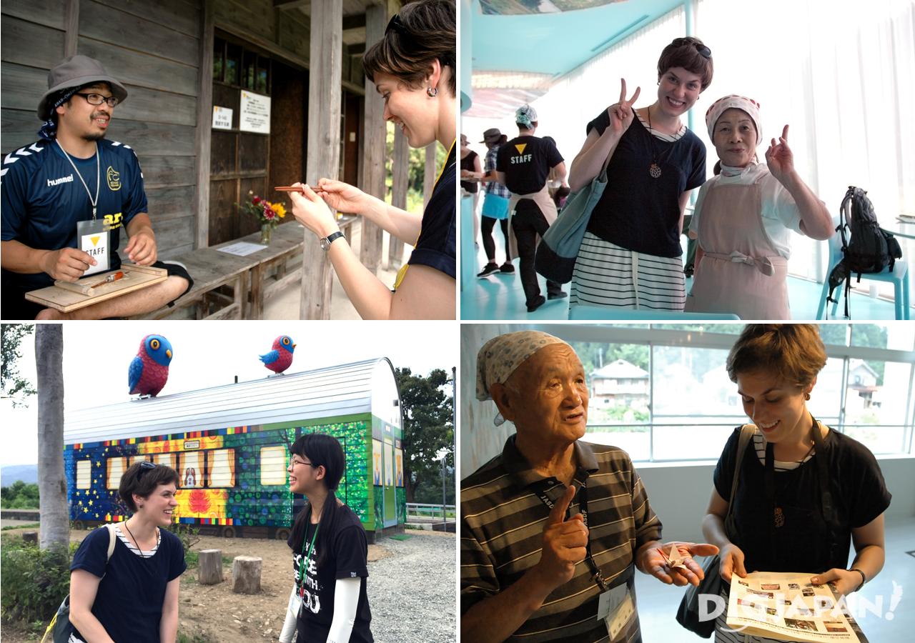 Some of the volunteers at the Echigo-Tsumari Art Triennale 2015
