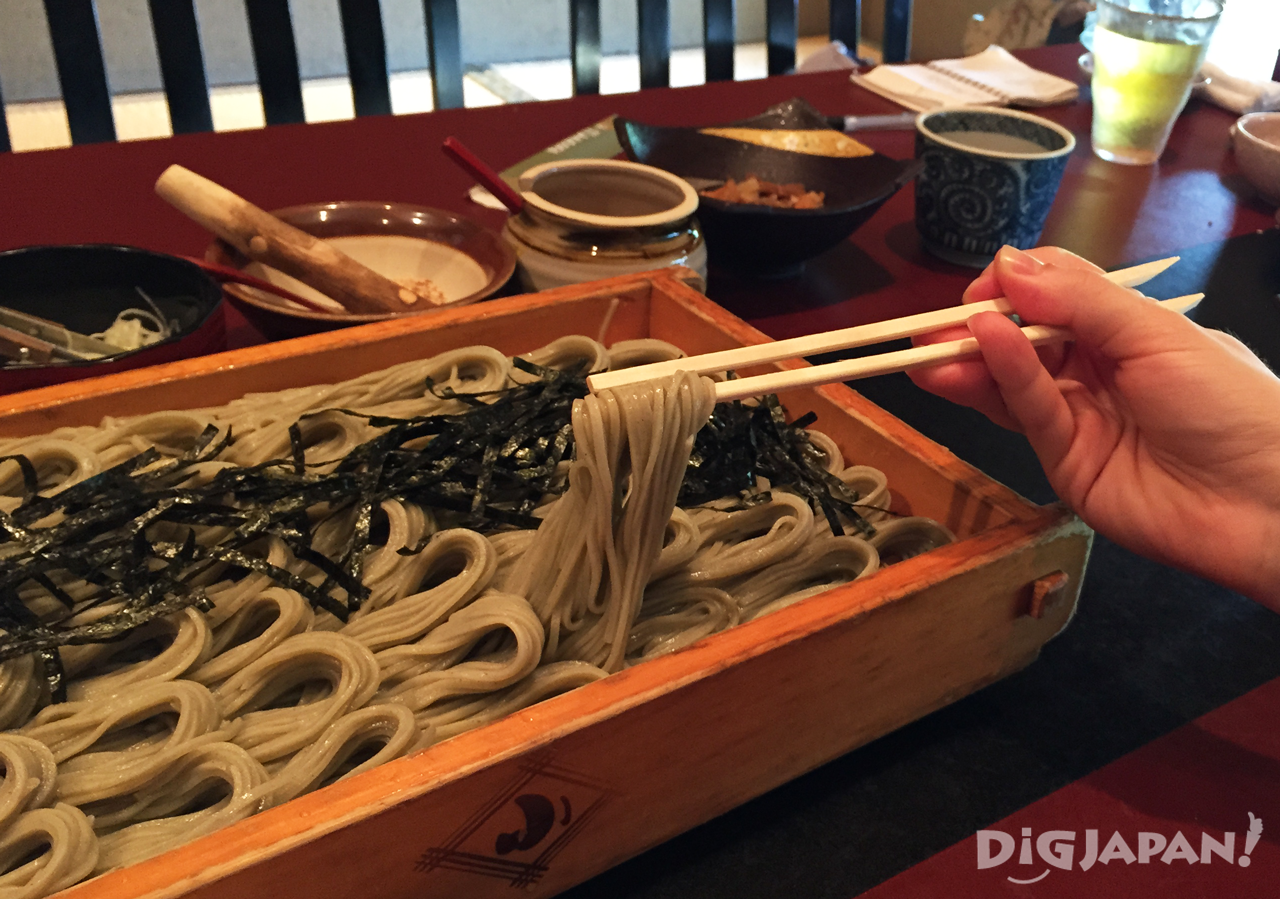 Taking soba from the hegi