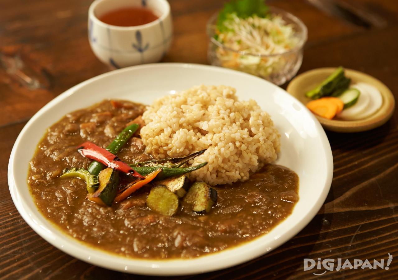 일본 도쿄 채식 네즈노야 카레