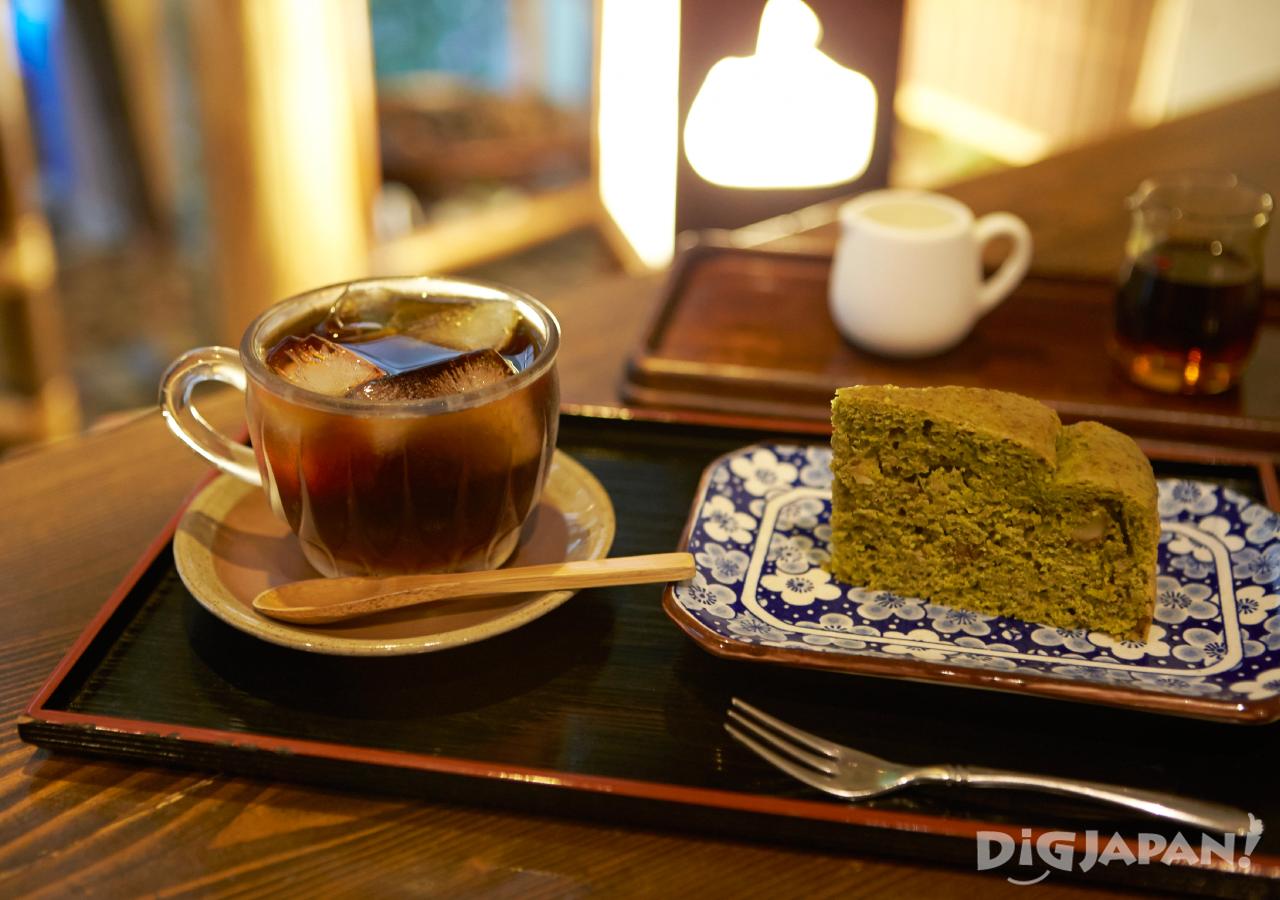 일본 도쿄 채식 네즈노야 커피