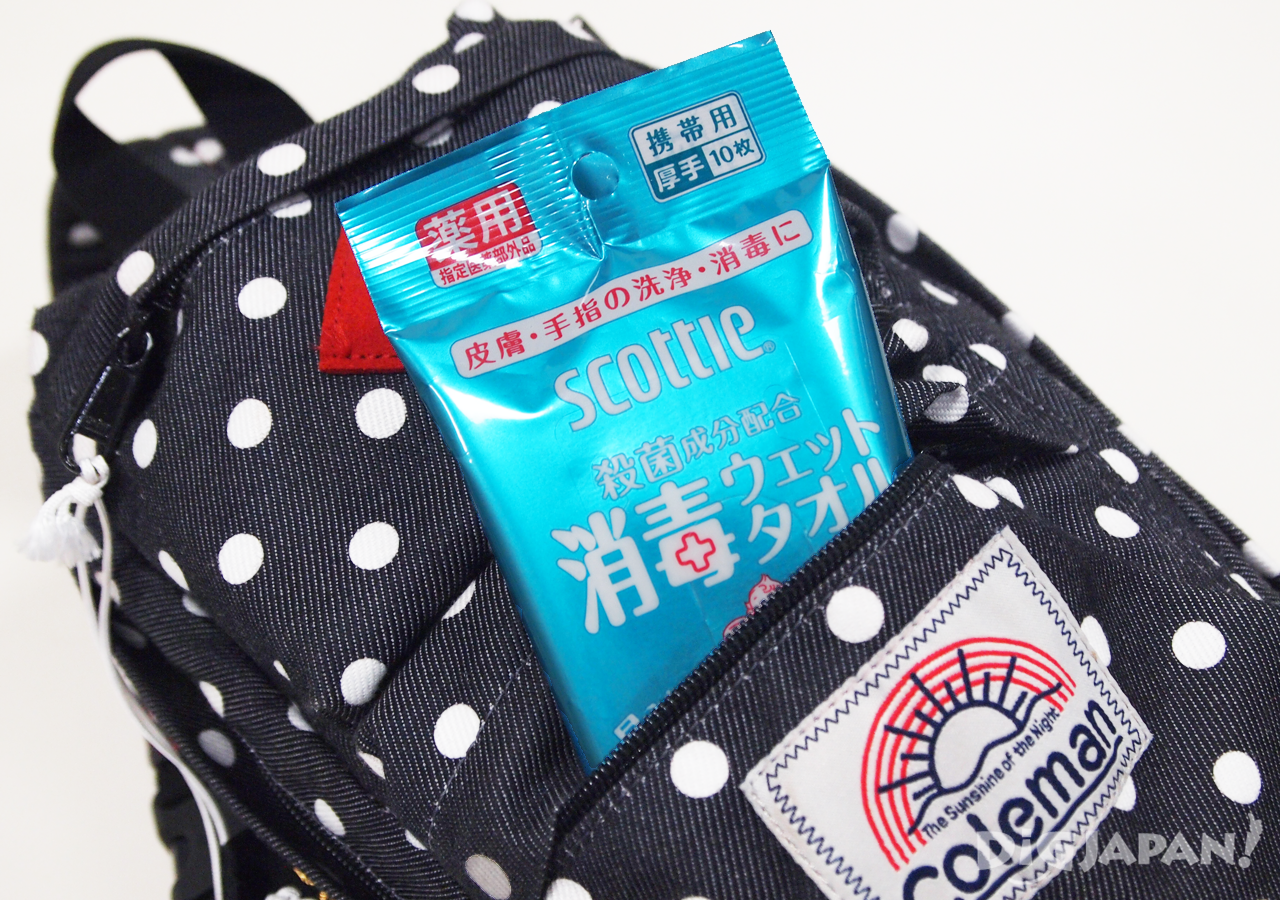 First Time Travelers in Japan 10 Tips hand wipes