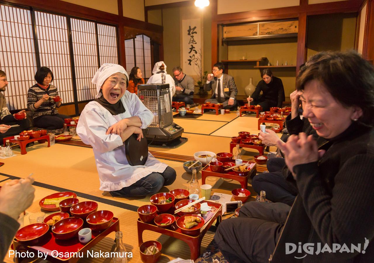 Echigo Tsumari Winter Event yukimi gozen
