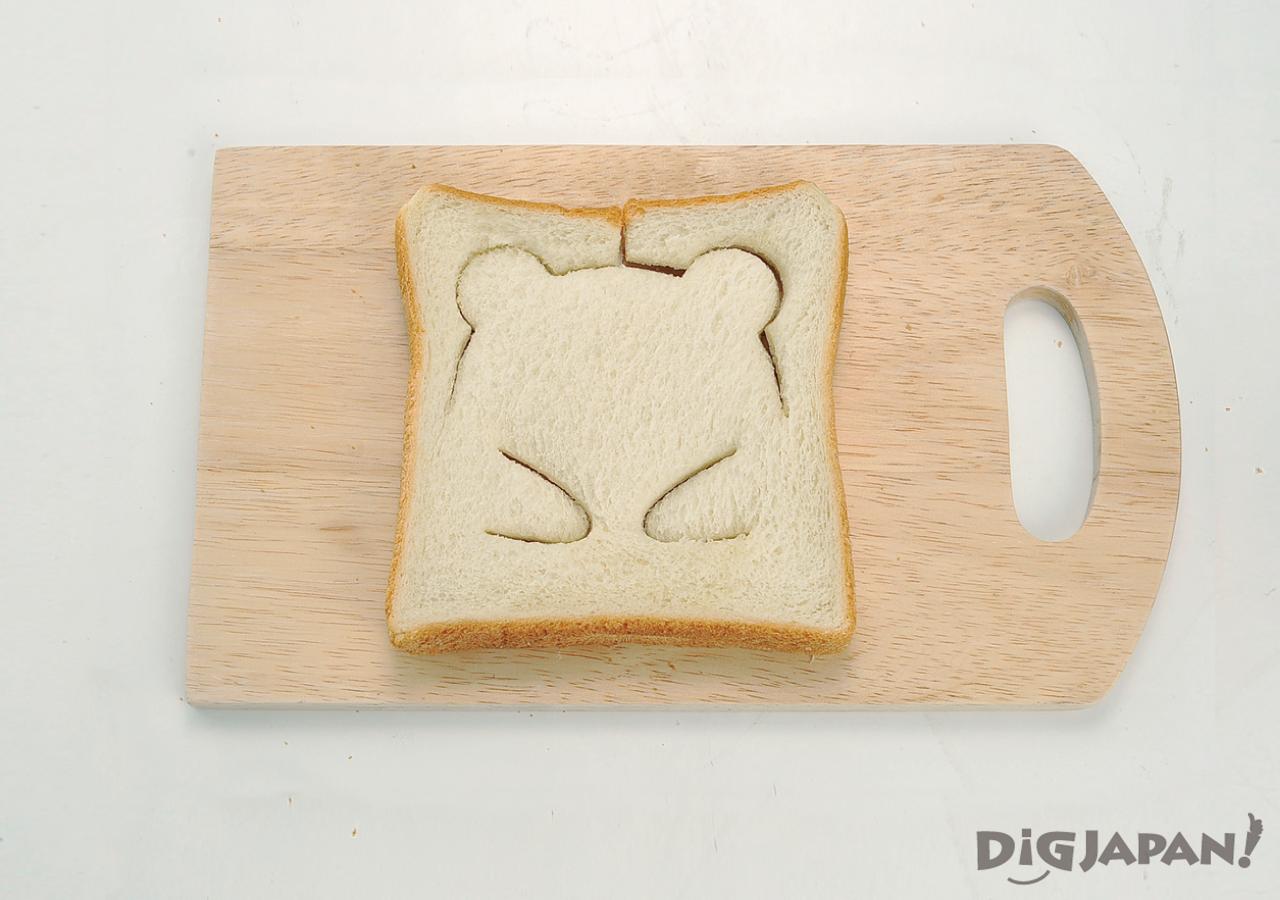 팬더 식빵 토스트 만들기 누른 후