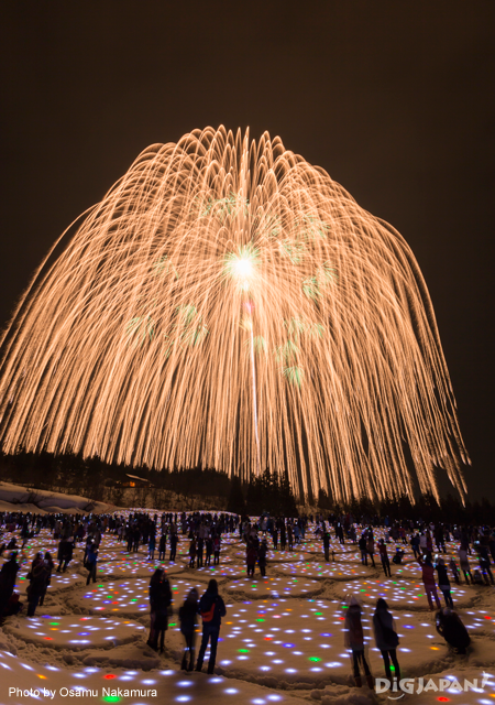 Snow Fireworks Echigo Tsumari Winter Event