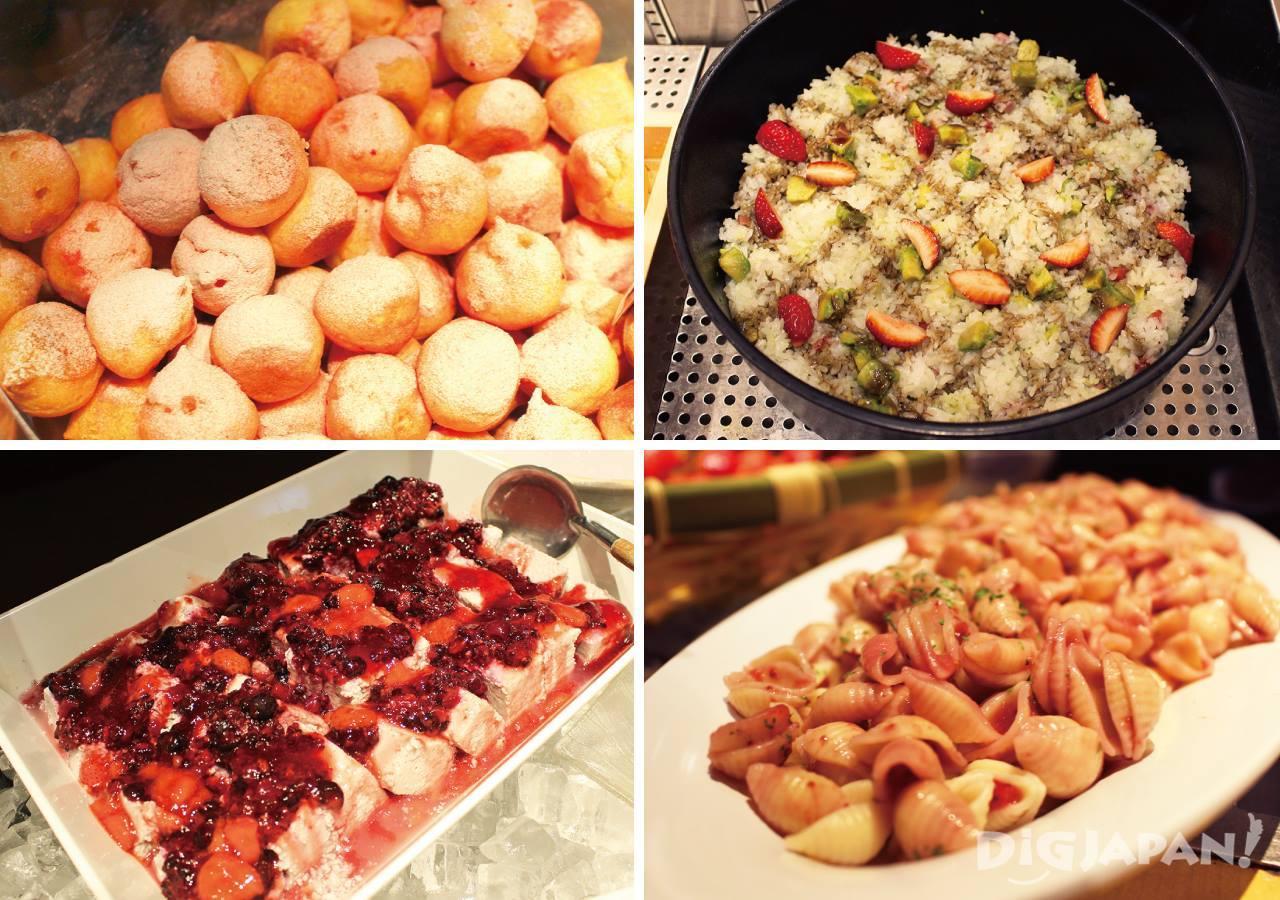 우에노 뷔페 음식 예
