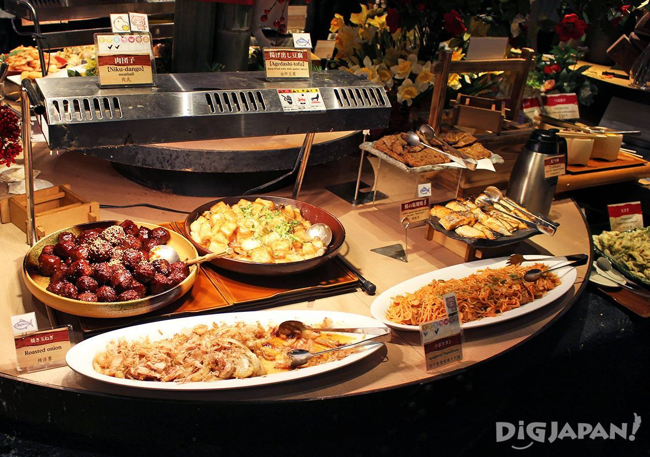 우에노 뷔페 음식 2