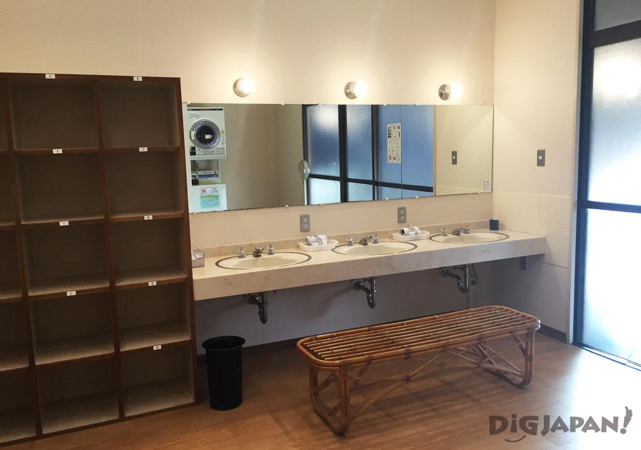 The Ryokan Tokyo Yugawara onsen changing room