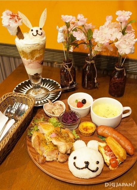 兔子櫻花聖代+獨家醬烤雞排(季節限定)