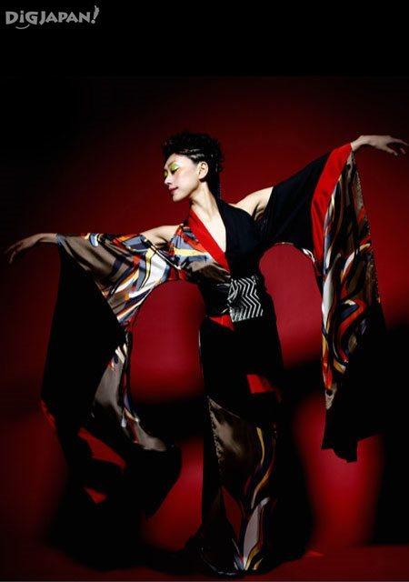 MANAKA phoenix dress furisode long sleeves