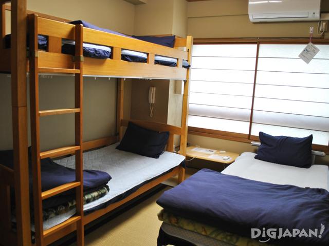 東京隅田川ユースホステル ベッドルーム