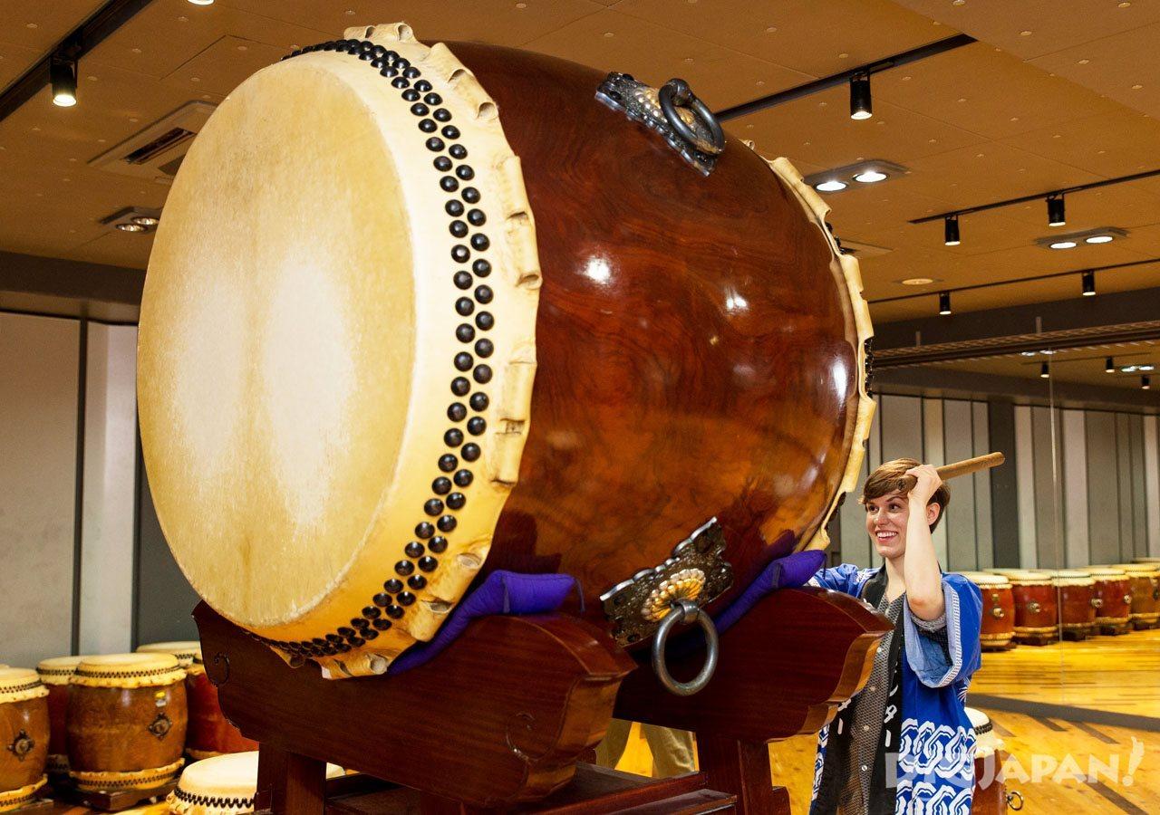 大太鼓の大きさに圧倒