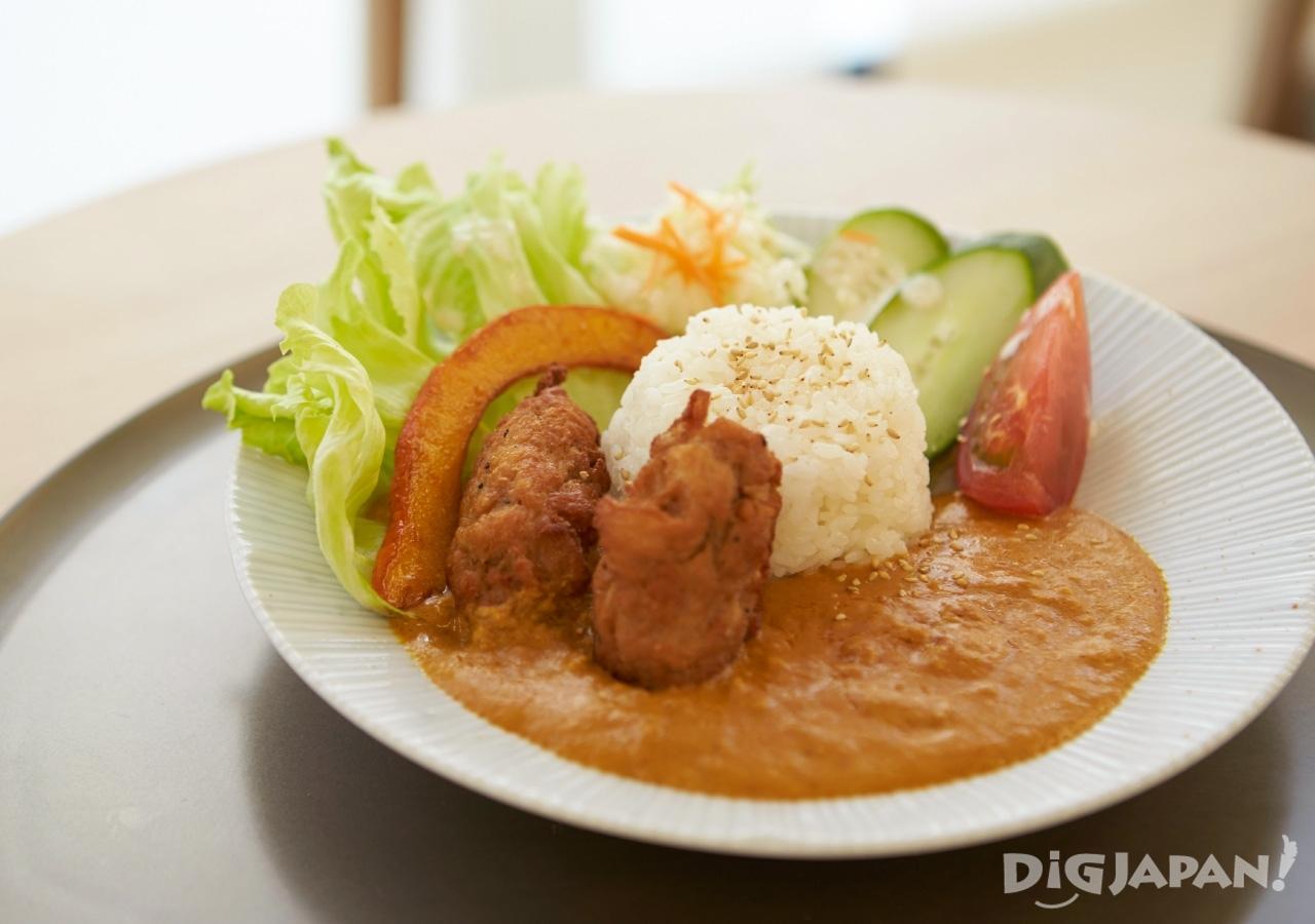 일본 도쿄 아사쿠사 채식 카에몬 카레