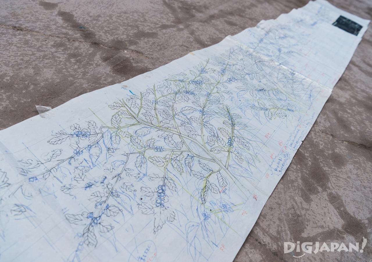 スターバックスに飾られる有田焼の原画にはデザインのアイデアがびっしり(縮小版)
